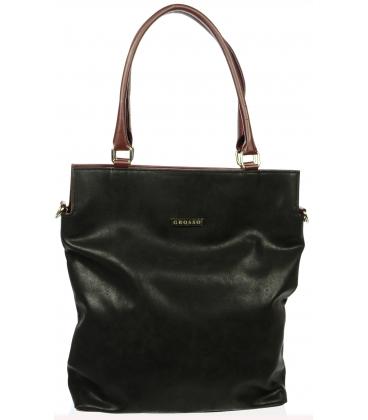 Štýlová čierno-červená taška S602 - Grosso