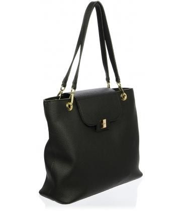 Športovo elegantná čierna kabelka S706 - Grosso