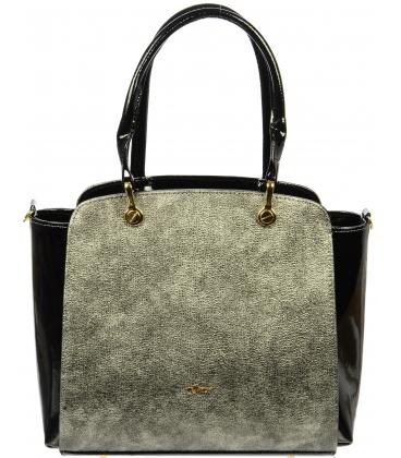 Zlato čierna elegantná kabelka S682 - Grosso