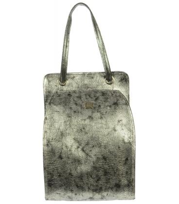 Stříbrný větší batoh S707 - Grosso
