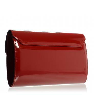 Tmavo červená lakovaná listová kabelka SP102 - Grosso