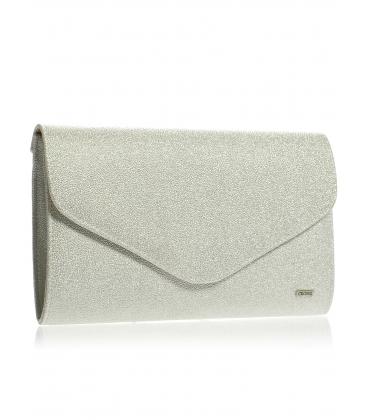 Stříbrná brokátová společenská kabelka SP102 - Grosso