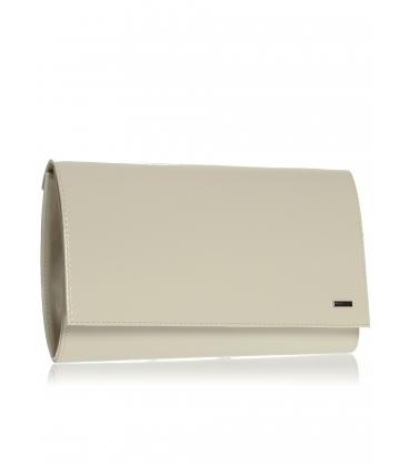 Béžová spoločenská kabelka SP100 lak - Grosso
