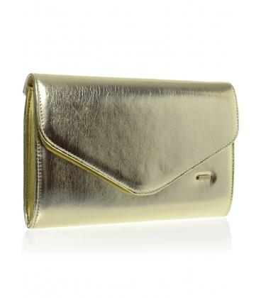 Zlatá lesklá listová kabelka SP102 - Grosso