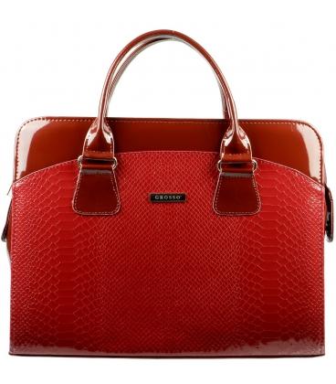 Červená elegantní taška na notebook ST01 kroko - Grosso