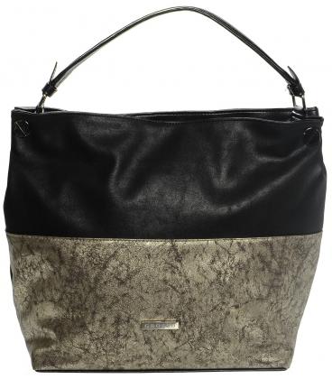 Čierno-zlatá metalická kabelka S613 - Grosso