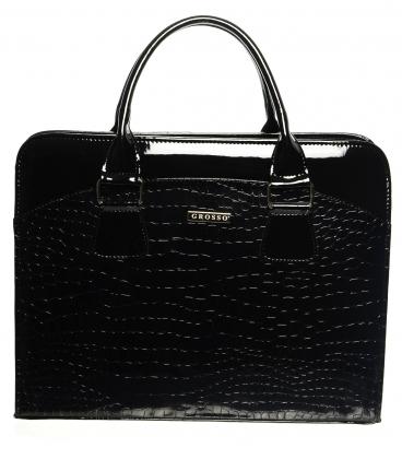 Černá elegantní taška na notebook ST01