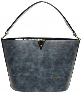 Modrá elegantná kabelka S629 - Grosso
