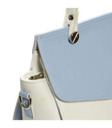 Bielo-modrá eletantná kabelka S661 - Grosso