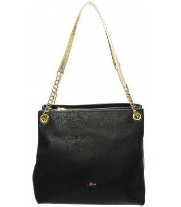 Čierno-zlatá praktická kabelka S652 - Grosso