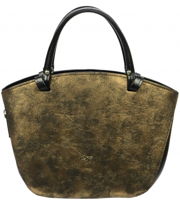 Čierno- zlatá kabelka oblého tvaru S683- Grosso