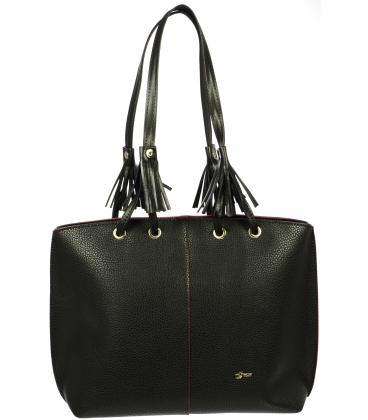 Čierna matná kabelka s dlhými rúčkami S691 - Grosso