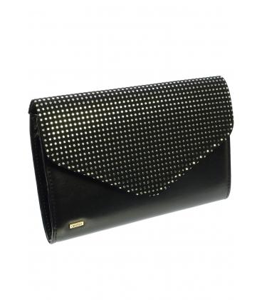 Čierno-strieborná spoločenská kabelka s bodkami SP102 - Grosso
