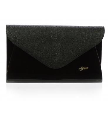 Čierna listová kabelka SP126 -  Grosso