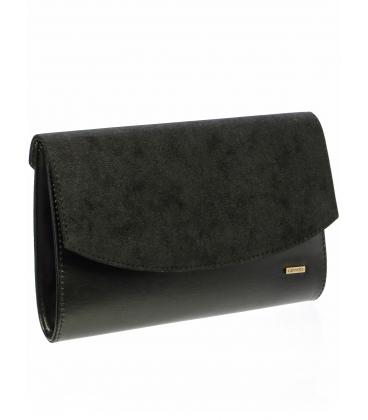 Elegantná čierna listová kabelka SP132 -  Grosso