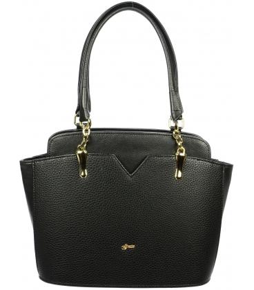 Čierna kabelka cez rameno S716 - Grosso