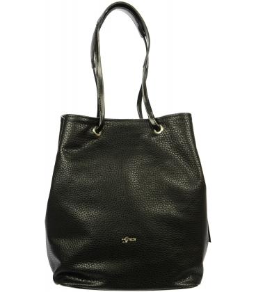 Čierna stredne veľká kabelka S717 - Grosso