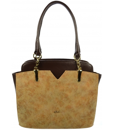 Hnedá kabelka cez rameno S702 - Grosso