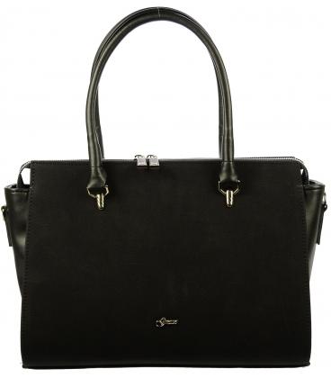 Čierna elegantná kabelka S718 - Grosso