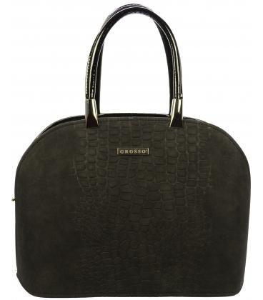 Čierna matná oblá kabelka S606 - Grosso