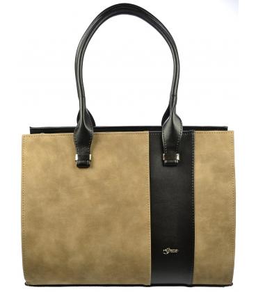 Elegantná kabelka v hnedej kombinácií S499 - Grosso