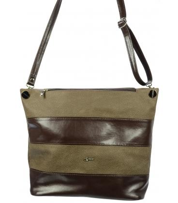 Hnedá pruhovaná kabelka S675 - Grosso
