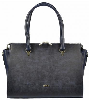 Modrá elegantná kabelka S718 - Grosso