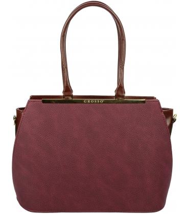 Bordová kabelka s dlhými rúčkami S695 - Grosso