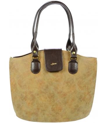 Hnedá elegantná vysoká kabelka S38 - Grosso