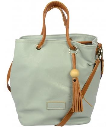 Šedo-hnedá mechová kabelka S171129