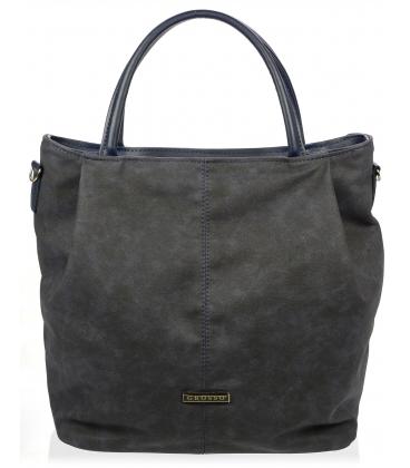 Tmavomodrá mechová kabelka S400 - Grosso