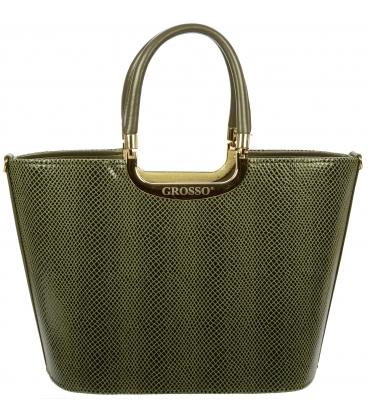Zeleno-zlatá elegantná kabelka S7 - Grosso