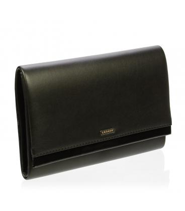 Černá společenská kabelka s lakovaným lemem SP100 - Grosso