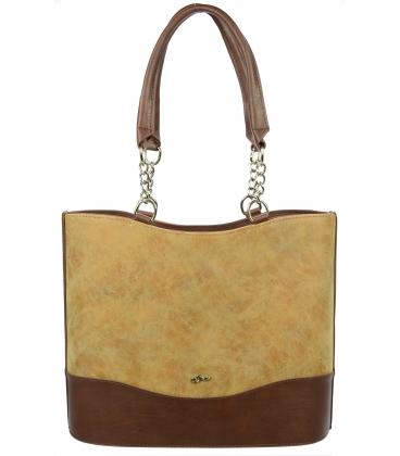 Hnedá vysoká kabelka s retiazkou S656 - Grosso