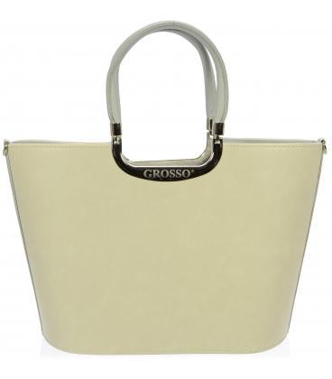 Béžovo-šedá elegantní kabelka S7 - Grosso