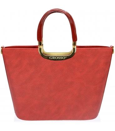 Červená matná kabelka do ruky S7 - Grosso