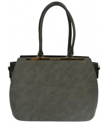Sivá kabelka cez rameno S695 - Grosso
