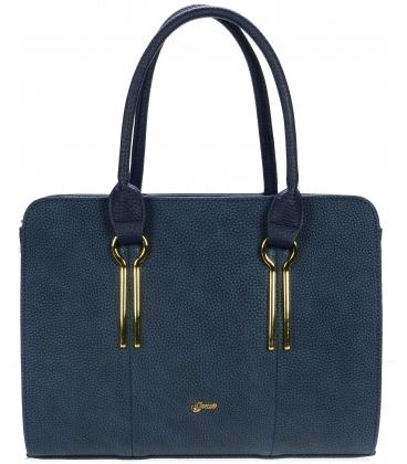 Modrá kabelka so zlatými aplikáciami S694 - Grosso