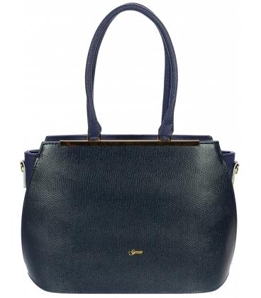 Modrá elegantní kabelka S695 - Grosso