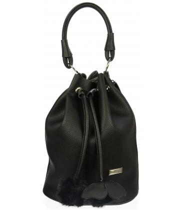 Černá mechová kabelka S724 - Grosso