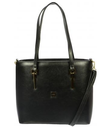 Černá kabelka přes rameno S726 - Grosso