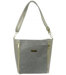 Sivá kabelka so zipsom S727 - Grosso