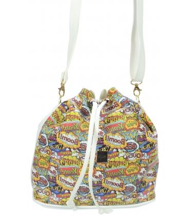 Crossbody taška s kůží s komiksovým vzorem M269 - Grosso