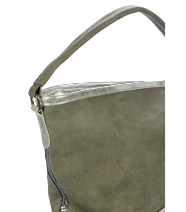 Pieskovo-hnedá mechová kabelka S730 - Grosso