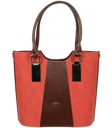 Červená vysoká kabelka S731 - Grosso
