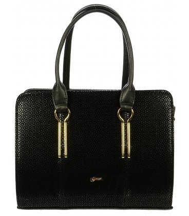 Černá kabelka s odleskem S694 - Grosso