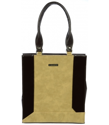 Čierno-piesková vysoká kabelka S610 - Grosso
