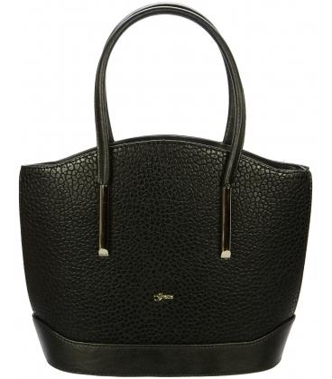 Elegantná čierna kabelka s dlhými rúčkami S55 - Grosso