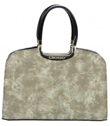 Písková elegantní kabelka do ruky S6 - Grosso