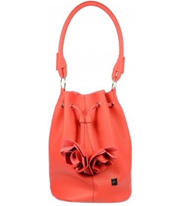 Červená mechová kabelka S724 - Grosso
